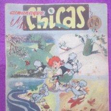 Tebeos: TEBEO ALMANAQUE MIS CHICAS 1949, CON RECORTABLE BEBE CHICHI,. Lote 132807762