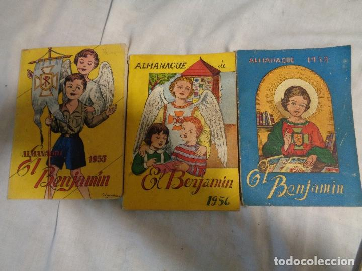LOTE TRES ALMANAQUES EL BENJAMIN (Tebeos y Comics - Tebeos Almanaques)