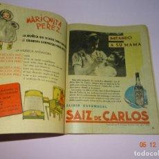 Tebeos: ALMANAQUE DE FLECHAS Y PELAYOS DEL AÑO 1942 CON RECORTABLES Y PUBLICIDAD DE MARIQUITA PEREZ. Lote 143383206