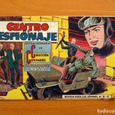 Tebeos: COLECCIÓN COMANDOS - Nº 21, CENTRO DE ESPIONAJE - ALMANAQUE 1958 - EDITORIAL VALENCIANA. Lote 146407518