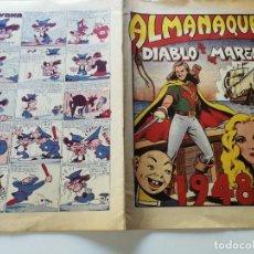 Tebeos: ALMANAQUES DIABLO DE LOS MARES- 1948 . Lote 147281730