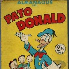 Tebeos: ALMANAQUE DEL PATO DONALD, POR WALT DISNEY - BRUGUERA 1945 - ORIGINAL - MUY MUY RARO Y DIFICIL. Lote 147738174