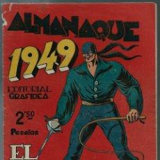 Tebeos: ALMANAQUE 1949 EL JINETE FANTASMA, DE AMBROS - GRAFIDEA 1948 - ORIGINAL - BIEN CONSERVADO. Lote 147744490