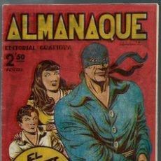 Tebeos: ALMANAQUE 1950 EL JINETE FANTASMA, DE AMBROS - GRAFIDEA 1949 - ORIGINAL - BIEN CONSERVADO. Lote 147744890