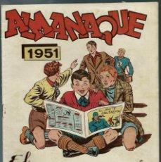 Tebeos: ALMANAQUE 1951 EL JINETE FANTASMA - GRAFIDEA 1950 - ORIGINAL - BIEN CONSERVADO. Lote 147745314