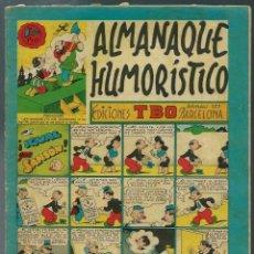 Tebeos: ALMANAQUE HUMORISTICO TBO PARA 1950 - ORIGINAL - BIEN CONSERVADO. Lote 147745814