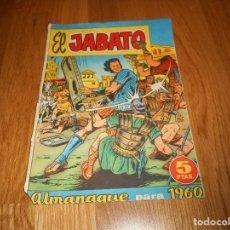 Tebeos: CÓMIC EL JABATO - ALMANAQUE 1960 - ED. BRUGUERA, AÑOS 60 - MEDIDAS 24,5 X 17,5 CM. Lote 147829682