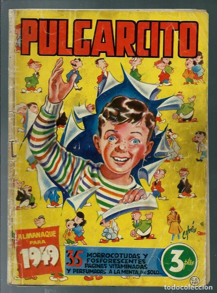 PULGARCITO - ALMANAQUE PARA 1949 - BRUGUERA - ORIGINAL - INSPECTOR DAN - VER DESCRIPCION (Tebeos y Comics - Tebeos Almanaques)