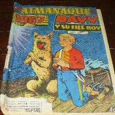 Tebeos: DAVY Y SU FIEL ROY, ALMANAQUE DEL AÑO 1967, REVISTA JUVENIL Nº 275, EDICIONES OLIVE Y HONTORIA, BCN.. Lote 149663178