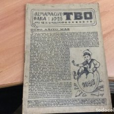 Tebeos: TBO T.B.O. ALMANAQUE 1925 ORIGINAL (COIM20). Lote 151022446