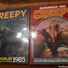 Tebeos: CREEPY LOTE ALMANAQUE 1985, 1982. Lote 151534670