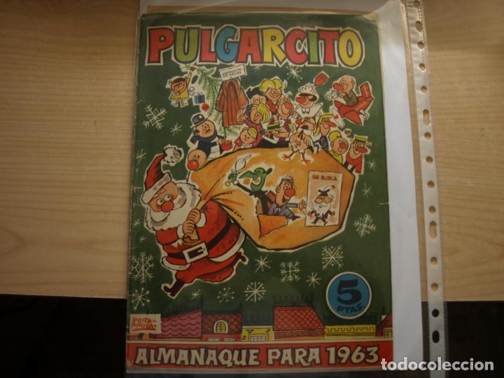 PULGARCITO - ALMANAQUE PARA 1963 - ORIGINAL - BRUGUERA (Tebeos y Comics - Tebeos Almanaques)