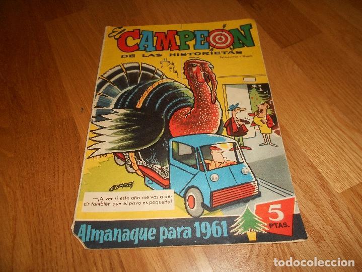 EL CAMPEON DE LAS HISTORIETAS ALMANAQUE PARA 1961 EDITORIAL BRUGUERA (Tebeos y Comics - Tebeos Almanaques)