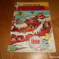 Tebeos: ALMANAQUE DE PINOCHO PARA 1958 EDITA CLIPER. Lote 155817102