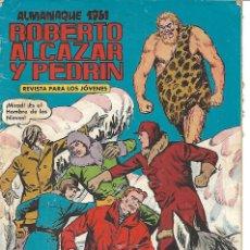 Tebeos: ROBERTO ALCAZAR ALMANAQUE 1961 ORIGINAL. Lote 161794882