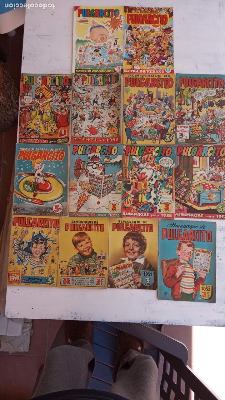 PULGARCITO ALMANAQUES - 1949,1950,1951,1952,1953,1954,1955,1956,1957,1958,1959 - EXTRA VACACIONES - (Tebeos y Comics - Tebeos Almanaques)