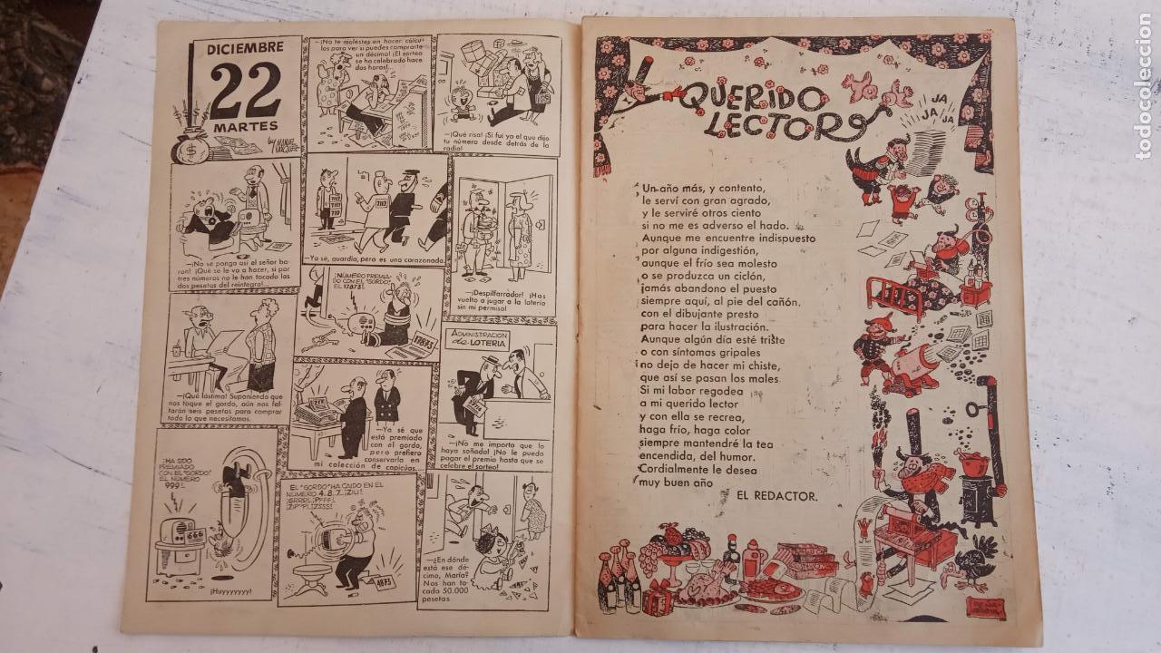 Tebeos: PULGARCITO ALMANAQUES - 1949,1950,1951,1952,1953,1954,1955,1956,1957,1958,1959 - EXTRA VACACIONES - - Foto 80 - 163619374