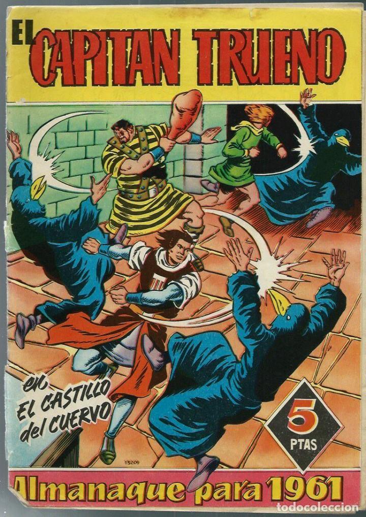 EL CAPITAN TRUENO - ALMANAQUE PARA 1961 - BRUGUERA - ORIGINAL - VER DESCRIPCION (Tebeos y Comics - Tebeos Almanaques)