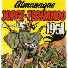 Tebeos: ALMANAQUE JORGE Y FERNANDO AÑO 1952. Lote 165606182