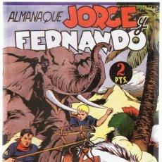 Tebeos: ALMANAQUE JORGE Y FERNANDO AÑO 1945 . Lote 165607442