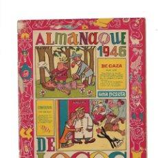 Tebeos: DE LOCOS, ALMANAQUE PARA 1946 ES ORIGINAL Y EL 1º DIBUJANTES: SORIANO IZQUIERDO, M. GAGO, LICERAS,. Lote 175574323