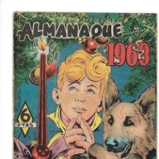 Tebeos: RIN - TIN - TIN. ALMANAQUE PARA 1963. ES ORIGINAL DIBUJANTES BEYLOC, AYNE, CASTILLO, PONT.. Lote 176105538