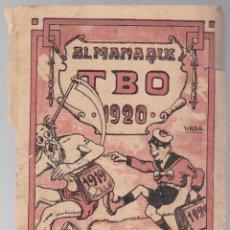 Tebeos: ALMANAQUE TBO 1920 - JUICIO DEL AÑO - MENDEZ ALVAREZ - CLICHES BARBANY. Lote 172879268