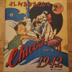 Tebeos: ALMANAQUE CHICOS 1942,PERFECTO Y ORIGINAL, VED FOTOS. Lote 178985943