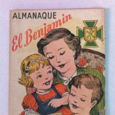 Tebeos: ALMANAQUE DEL BENJAMIN 1951 CON RECORTABLE. Lote 182166802