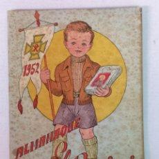 Tebeos: ALMANAQUE DEL BENJAMIN 1952 CON RECORTABLE. Lote 182167935