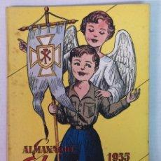 Tebeos: ALMANAQUE DEL BENJAMIN 1955 CON RECORTABLE. Lote 182169503