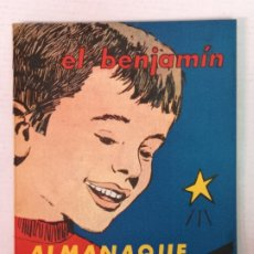 Tebeos: ALMANAQUE DEL BENJAMIN 1962 CON RECORTABLE. Lote 182173316