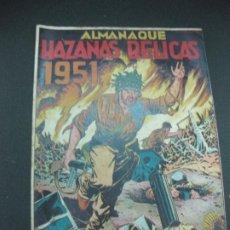 Tebeos: ALMANAQUE HAZAÑAS BELICAS 1951. . Lote 186059410