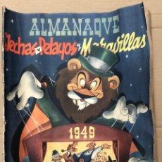 Giornalini: ALMANAQUE FLECHAS Y PELAYOS Y MARAVILLAS. 1949. ORIGINAL. 6 PESETAS. Lote 188556778