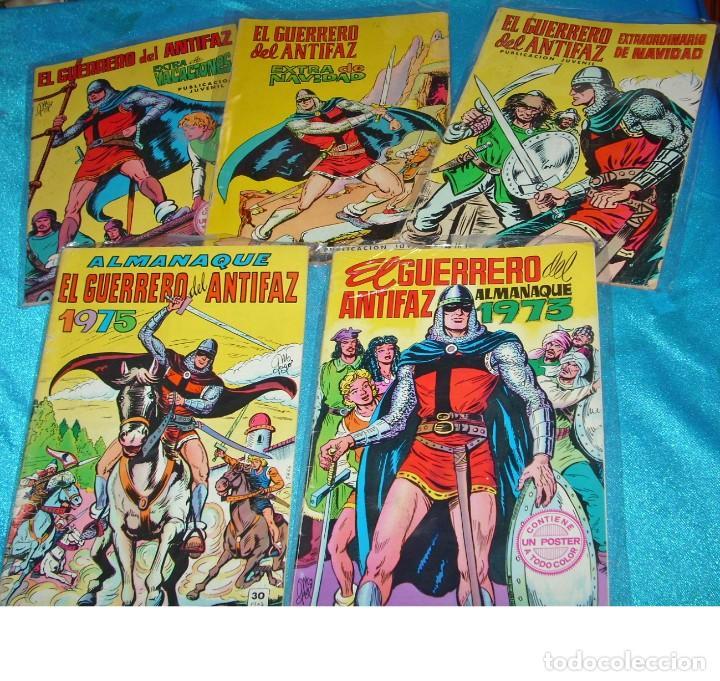 GUERRERO ANTIFAZ LOTE DE 5 ALMANAQUES Y EXTRAS CON 2 POSTERS DIFICILES ORIGINALES. LEER VER FOTOS (Tebeos y Comics - Tebeos Almanaques)