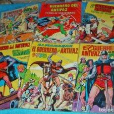 Livros de Banda Desenhada: GUERRERO ANTIFAZ LOTE DE 6 ALMANAQUES Y EXTRAS CON 3 POSTERS DIFICILES. LEER VER FOTOS. Lote 191198062