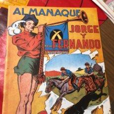 Tebeos: JORGE Y FERNANDO ALMANAQUE 1943. Lote 191363832