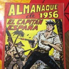 Tebeos: EL CAPITÁN ESPAÑA ALMANAQUE 1956. Lote 191363908