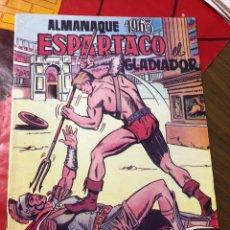 Tebeos: ESPARTACO EL GLADIADOR ALMANAQUE 1963. Lote 191364231