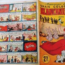 Tebeos: ALMANAQUE DE LA GRAN COLECCIÓN BLANCANIEVES PARA 1952 BRUGUERA CIFRE ESCOBAR MARTZ SCHMIDT SABATES. Lote 193853516