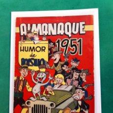 Tebeos: HUMOR DE BOLSILLO ALMANAQUE 1951 ORIGINAL EXCELENTE ESTADO VER FOTOS. Lote 194102241