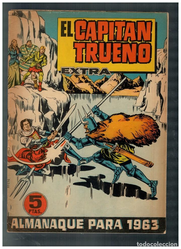 EL CAPITÁN TRUENO EXTRA. ALMANAQUE PARA 1963.. BRUGUERA. ORIGINAL. (Tebeos y Comics - Tebeos Almanaques)