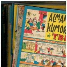 Tebeos: ALMANAQUE HUMORÍSTICO DE TBO - LOTE DE 17 - ENTRE LOS AÑOS 1951 Y 1981. ORIGINALES.LEER. Lote 194614756