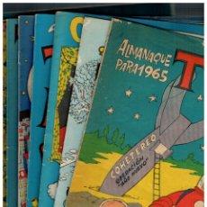 Tebeos: ALMANAQUE TBO - LOTE DE 9 - ENTRE EL AÑO 1964 Y 1983 + 50 AÑOS DE ALMANAQUES.ORIGINALES.LEER. Lote 194630378