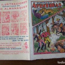 Livros de Banda Desenhada: GATO NEGRO. , ALMANAQUE AVENTURAS PARA AÑO 1934. Lote 195890045