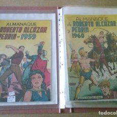 Tebeos: ROBERTO ALCAZAR Y PEDRIN , LOTE DE 9 ALMANAQUES ,ORIGINALES ,PERFECTO ESTADO. Lote 198187808