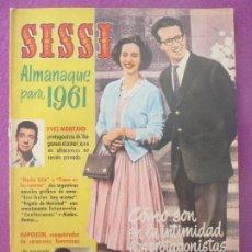 Tebeos: TEBEO SISSI ALMANAQUE PARA 1961. Lote 199448020