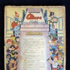 Tebeos: ANTIGUO ALMANAQUE CHICOS 1946. LEER. Lote 200344347