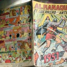 Tebeos: EL-GUERRERO-DEL-ANTIFAZ-ALMANAQUE-1951 -ORIGINAL. Lote 200547845
