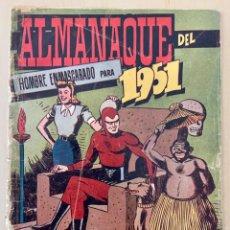 Tebeos: ALMANAQUE DEL HOMBRE ENMASCARADO DEL 1951 ORIGINAL DE LA ÉPOCA, NO REEDICIÓN. Lote 203294967